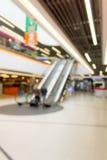 Imagen abstracta del supermercado o del pasillo del centro comercial Imagenes de archivo