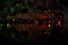 Imagen abstracta, fondo hermoso de la noche para los protectores de pantalla Fotografía de archivo
