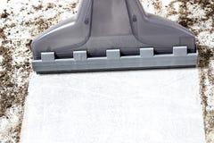 imagen aislada 3D Aspiradora de la alfombra Limpieza Piso sucio imagen de archivo