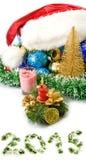 Imagen aislada de las decoraciones de la Navidad Fotografía de archivo libre de regalías