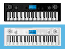 Imagen aislada de sintetizadores Imagen de archivo