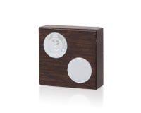 Imagen aislada de un trofeo del od hecho de la madera Imagenes de archivo