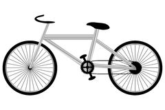 Imagen aislada de una bici Fotografía de archivo libre de regalías