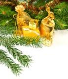 Imagen aislada del primer de las decoraciones de la Navidad Fotografía de archivo