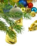 Imagen aislada del primer de las decoraciones de la Navidad Imagenes de archivo
