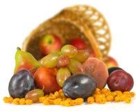 Imagen aislada del primer de las frutas Imagen de archivo