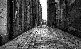 Imagen análoga de una vieja escena del pasillo Imagen de archivo libre de regalías