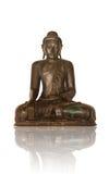 Imagen antigua de Buddha que se sienta Fotografía de archivo