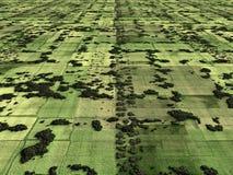 Imagen aérea de las tierras de labrantío Foto de archivo libre de regalías