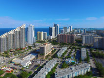 Imagen aérea Sunny Isles Beach FL Foto de archivo