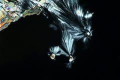 Imagen artística de cristales del ácido cítrico fotografía de archivo