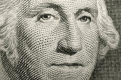 Imagen baja del foco del fundador de los Estados Unidos de América, presidente George Washington fotografía de archivo