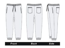 Imagen blanca del vector de los pantalones del ` s de los hombres Imágenes de archivo libres de regalías