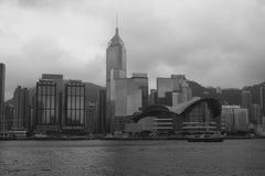 Imagen blanco y negro del centro de exposición Foto de archivo libre de regalías