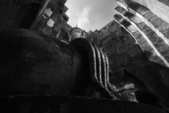Imagen blanco y negro Wat Si Chum Fotografía de archivo libre de regalías