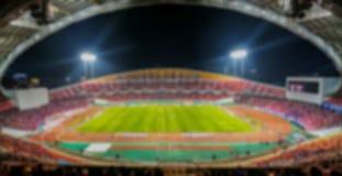 Imagen borrosa del tiro del estadio del fútbol o de fútbol Imágenes de archivo libres de regalías