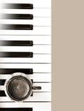Café y música Imagen de archivo libre de regalías