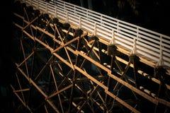 Imagen cambiante del puente peatonal Imágenes de archivo libres de regalías