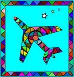Imagen coloreada del aeroplano Fotos de archivo