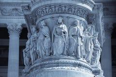 Imagen coloreada del monumento de Victor Emmanuel II imágenes de archivo libres de regalías