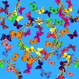 Imagen coloreada extracto ilustración del vector