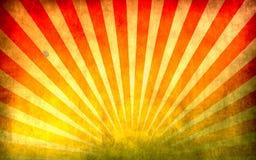 Imagen colorida con textura de la viga del sol ilustración del vector