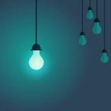 Imagen colorida de la transferencia en la lámpara en el frente y cambiada de ilustración del vector