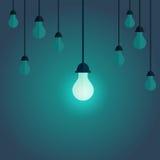 Imagen colorida de la transferencia en la lámpara en el frente y cambiada de libre illustration