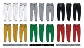 Imagen colorida del vector de los pantalones del hombre Foto de archivo