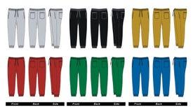Imagen colorida del vector de los pantalones del ` s de los hombres Imagen de archivo