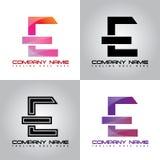 imagen colorida del vector del logotipo del diseño del E-logotipo libre illustration