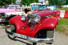Imagen común automotriz del vintage de Mercedes-Benz Cabriolet imagen de archivo