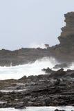 Imagen común de la bahía de Maunalua, Oahu, Hawaii fotografía de archivo libre de regalías