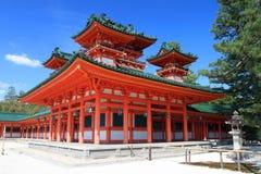 Imagen común de la capilla de Heian, Kyoto, Japón Fotos de archivo libres de regalías