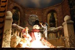 Imagen común de la decoración y de la exhibición de la Navidad en Nueva York, los E.E.U.U. Fotos de archivo