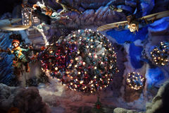 Imagen común de la decoración y de la exhibición de la Navidad en Nueva York, los E.E.U.U. Imagenes de archivo