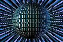 Imagen común de la esfera del código binario Foto de archivo