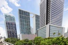 Imagen común de los edificios de Brickell Miami fotos de archivo