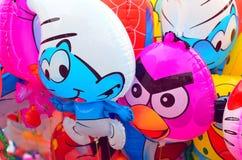 Imagen común de los globos coloridos del aire caliente Fotografía de archivo libre de regalías