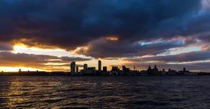 Imagen común del horizonte de Liverpool, Reino Unido foto de archivo libre de regalías