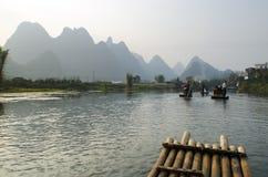 Imagen común del paisaje en Yangshuo Guilin, China Imagenes de archivo