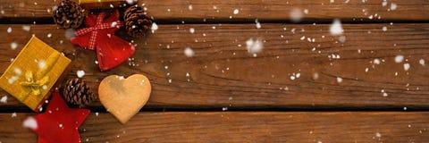 Imagen compuesta de caer de la nieve Fotografía de archivo