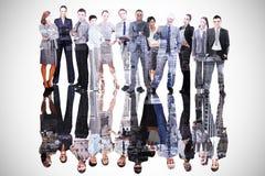 Imagen compuesta de hombres de negocios Foto de archivo libre de regalías