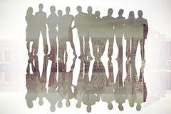 Imagen compuesta de hombres de negocios Imagenes de archivo