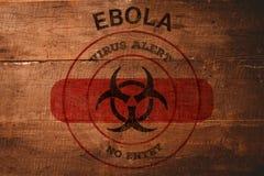 Imagen compuesta de la alarma del virus de ebola Foto de archivo libre de regalías