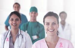 Imagen compuesta de la cinta de la conciencia del cáncer de pecho Foto de archivo libre de regalías