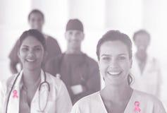 Imagen compuesta de la cinta de la conciencia del cáncer de pecho Fotografía de archivo libre de regalías