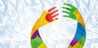 Imagen compuesta de la cinta del autismo stock de ilustración
