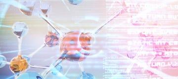 Imagen compuesta de la estructura de la DNA Imagenes de archivo