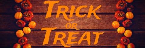 Imagen compuesta de la imagen gráfica del texto del truco o de la invitación Fotografía de archivo